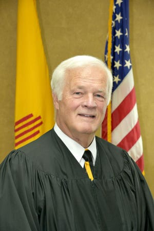 New Mexico State Supreme Court Justice Gary Clingman speaks to Federated Republican Women of Lincoln County