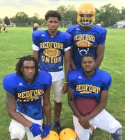 Redford Union will rely on seniors (from row, from left) Cameron Wills and Carl Ware, along with (top, from left) Trevon Williams and Derion Gould.