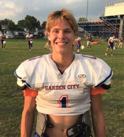 Garden City senior Chase McGraw could get snaps at quarterback and wide receiver. He will also play defensive back.
