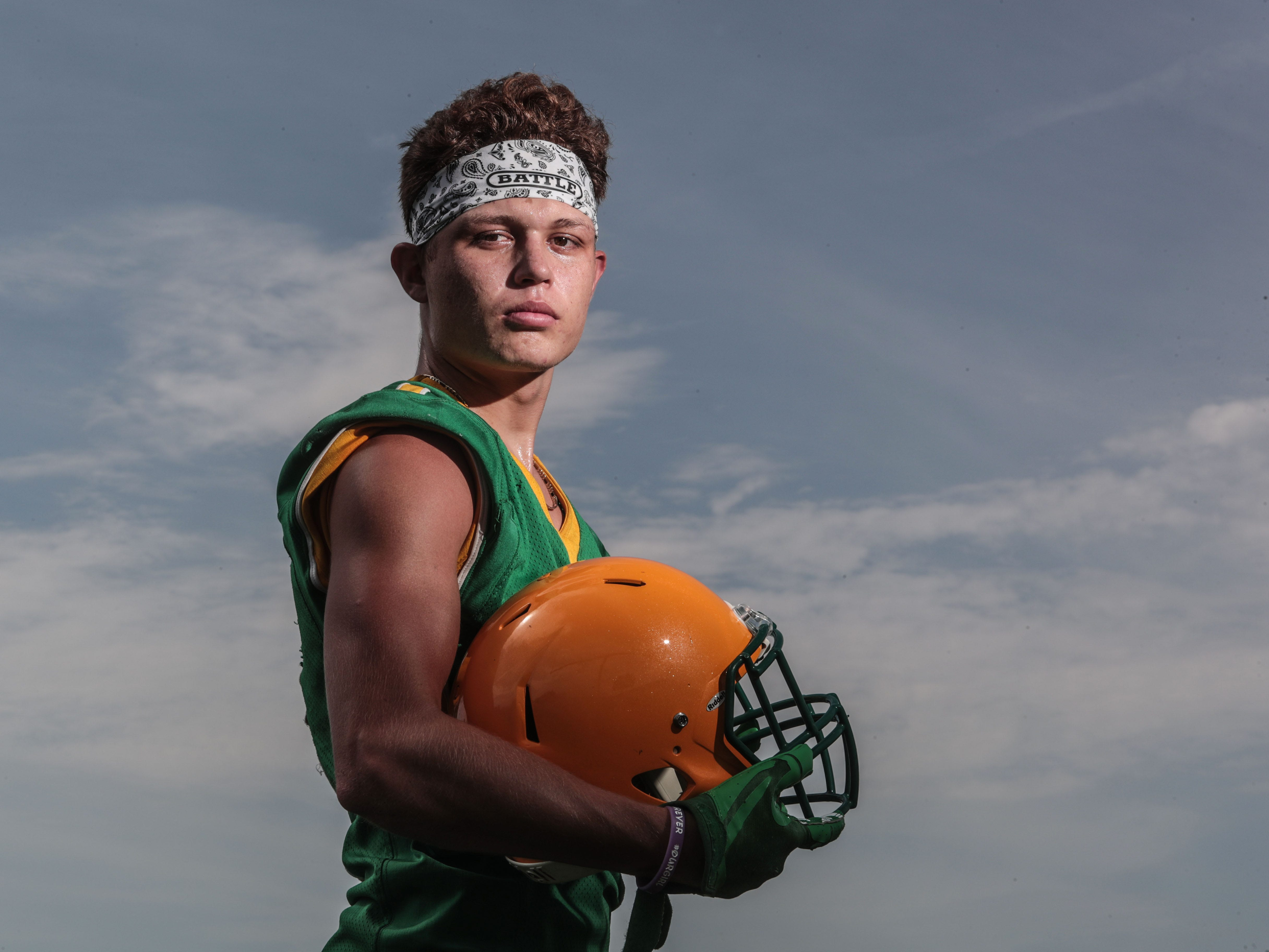 No 3: Angelo Fitzgerald, football player for Coachella Valley High School on Monday, July 30, 2018 in Thermal.
