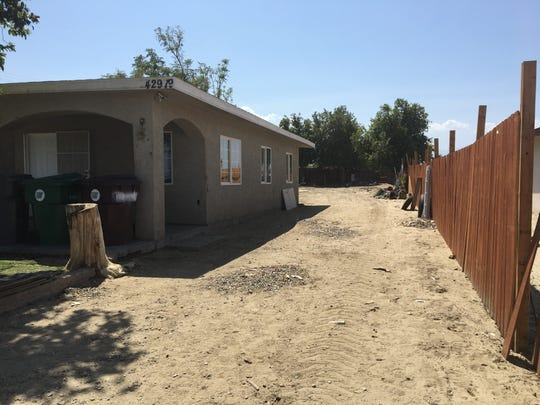 Riverside County Sheriff's Department deputies on Tuesday dug up the backyard of a Burr Street home in Indio, but appeared to leave empty-handed after filling back the dirt..