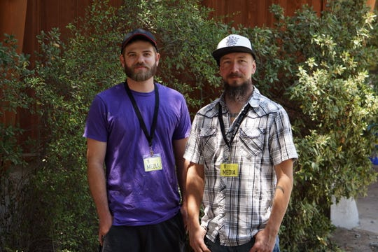 Nathan DeJarnette (left) and Brian Parnell are organizing the Idyllwild Strong Festival to benefit victims of the Cranston Fire this weekend in Idyllwild.