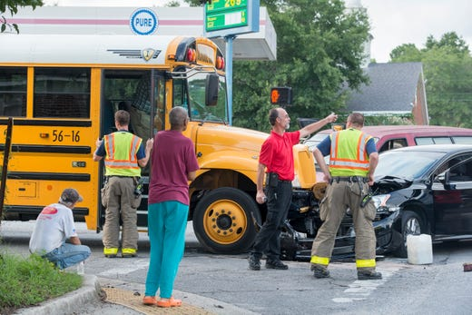 Escambia County school bus involved in crash on West Jackson
