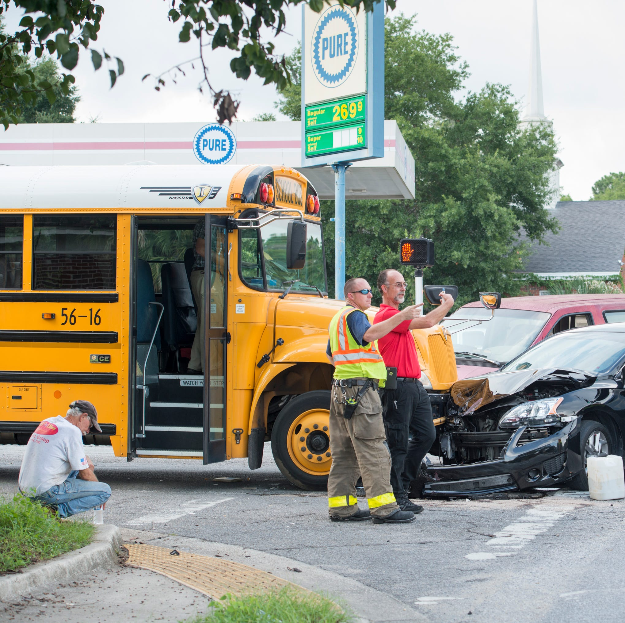 Escambia County school bus involved in crash on West Jackson Street