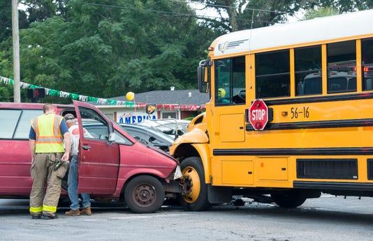 school bus vs passenger vehicle accident