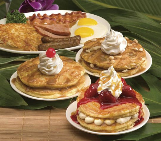 Hawaiian pancakes and breakfast at IHOP.