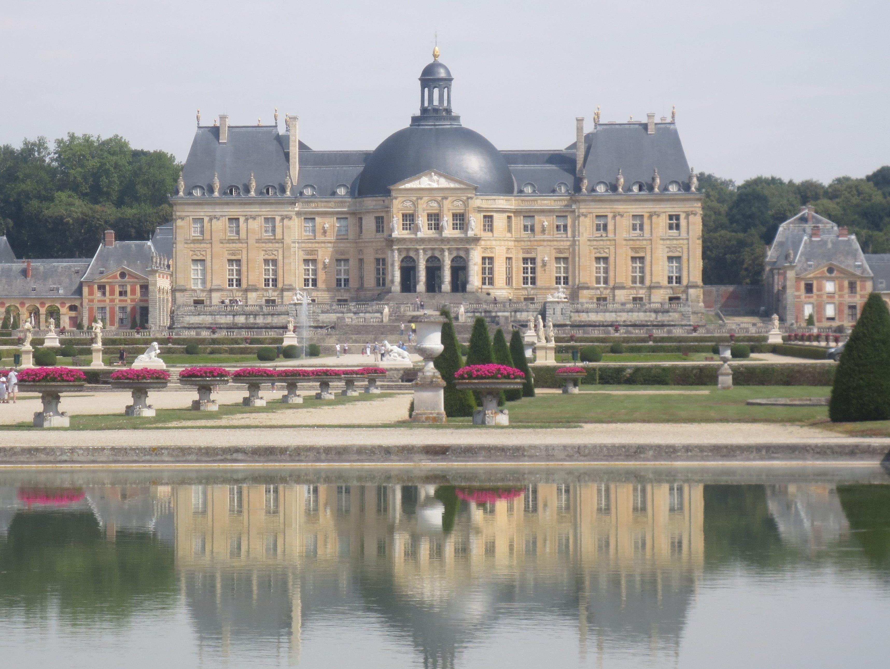 The 17th century Chateau de Vaux-le-Vicomte near Paris.