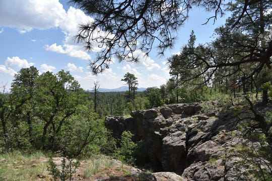 This box canyon is a highlight along the north leg of the Land of the Pioneers Trail in Arizona's White Mountains.