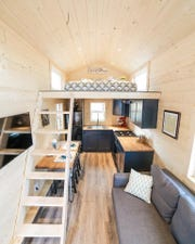 Inside the Beers' tiny home.