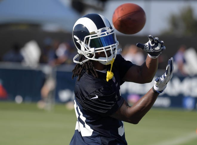 Los Angeles Rams running back Todd Gurley (30) was voted among the top running backs in the NFL by players in the league.