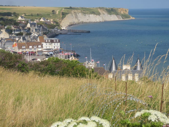 The village of Arromanches in Normandy, where battles were fought during the Allied invasion of France in 1944.
