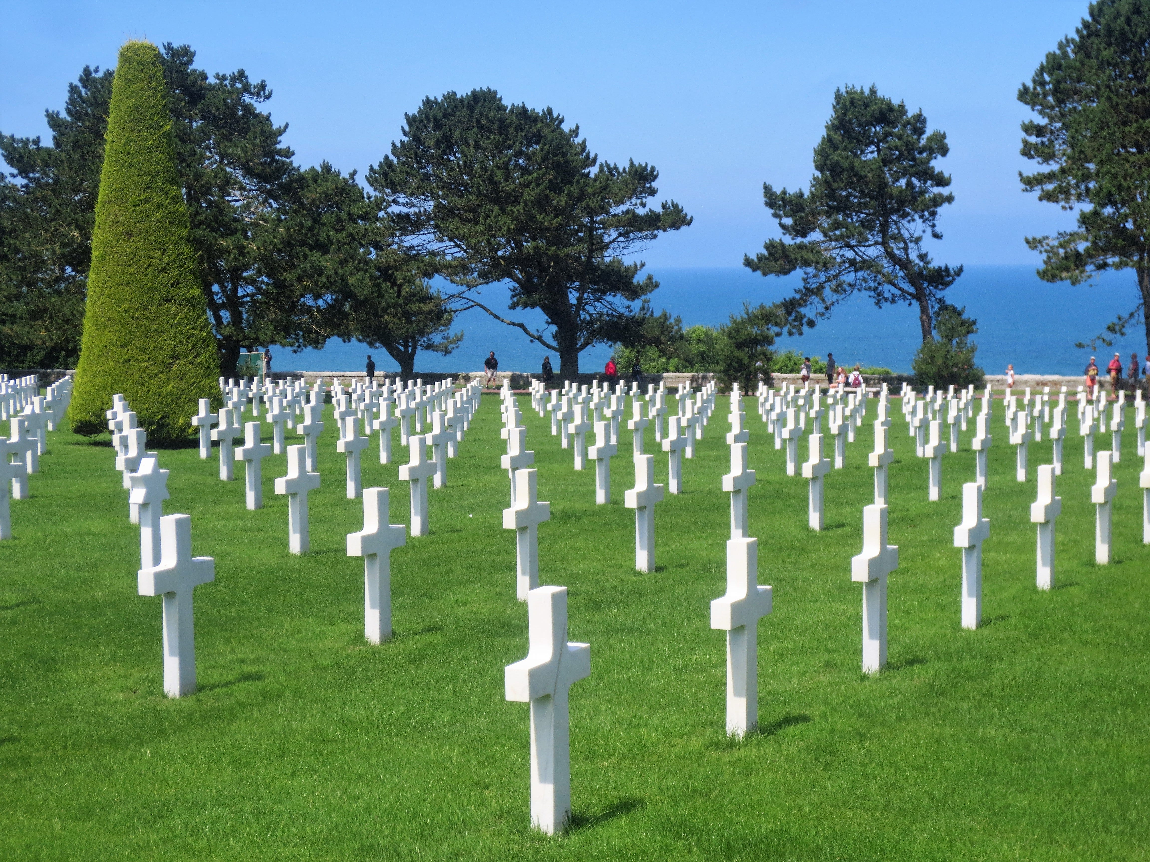 The Normandy American Cemetery near Omaha Beach in Normandy, France.