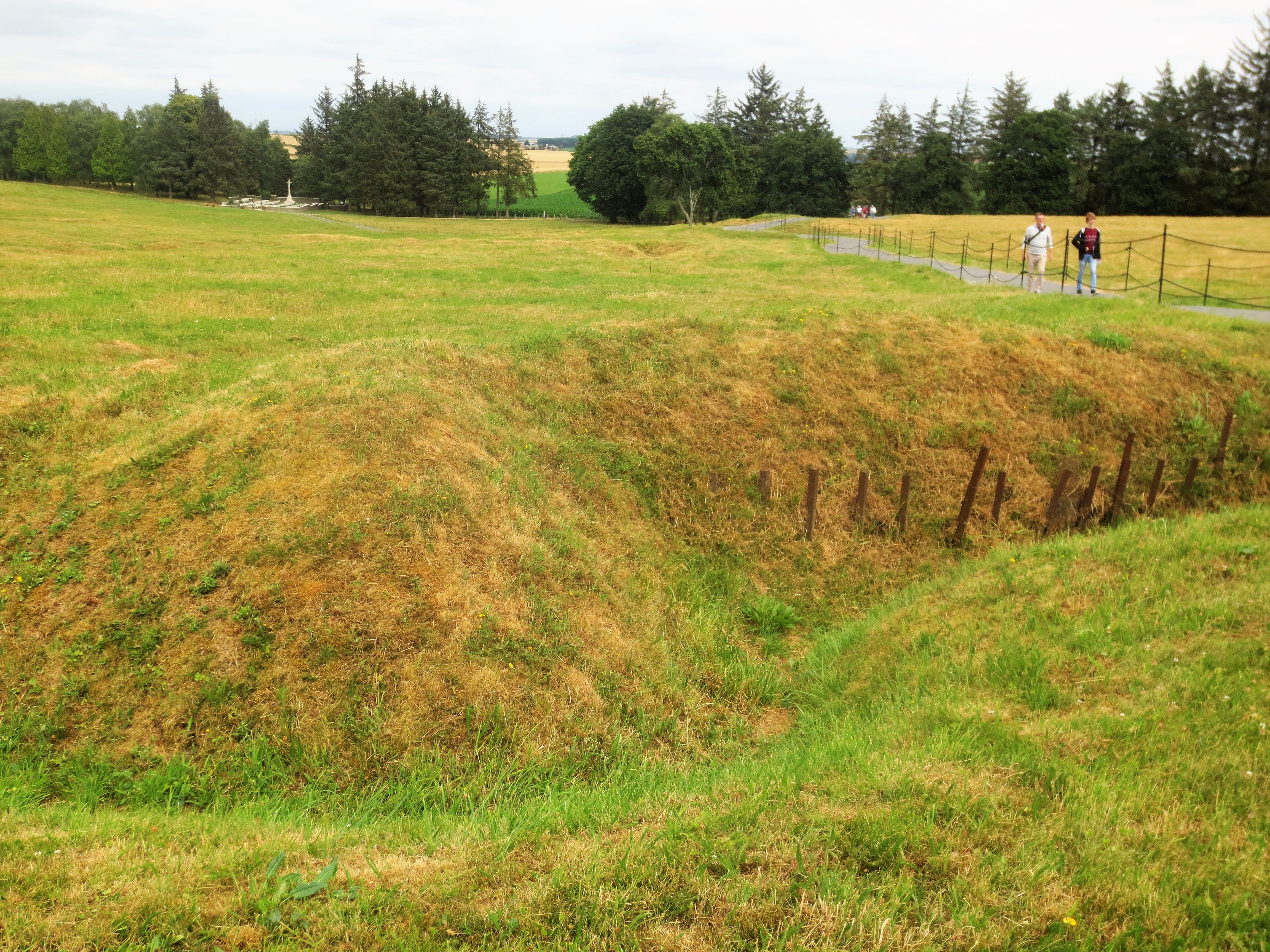 Trenches are still visible at the Somme battlefield in France, where there were more than 1 million casualties in 1916.