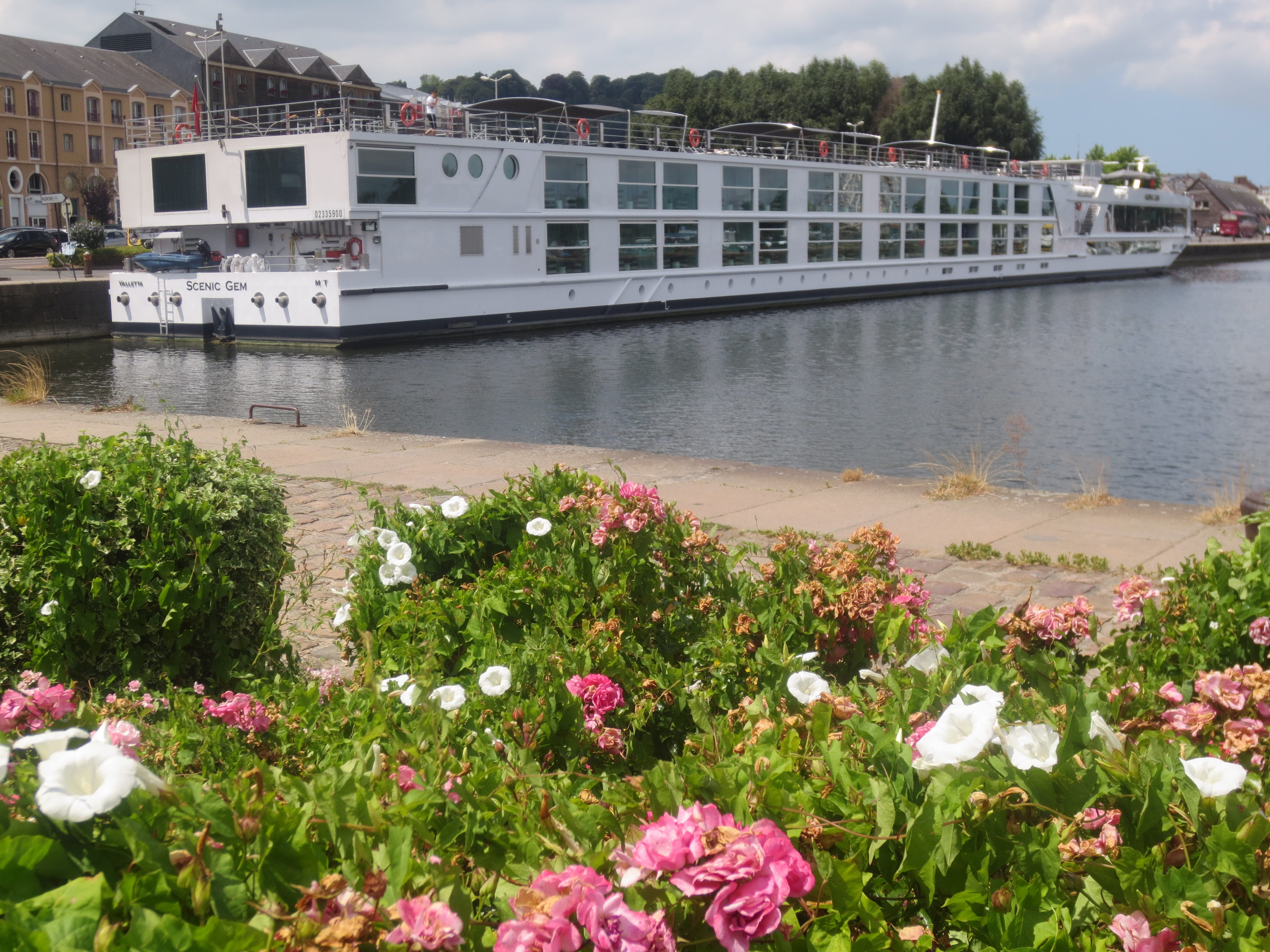 The Scenic Gem docked on the Seine River in Honfleur, France.