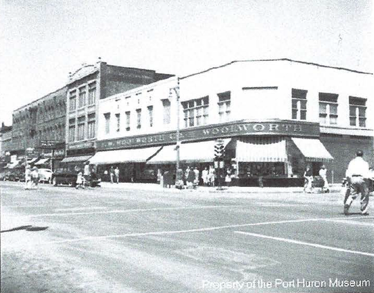 An undated photo of the former Woolworth building in downtown Port Huron.