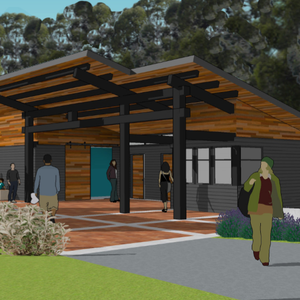 A rendering of the planned Dutchess County Welcome Center shows a new indoor area as well as an outdoor pavilion. The center is scheduled to be opened in the spring of 2019.