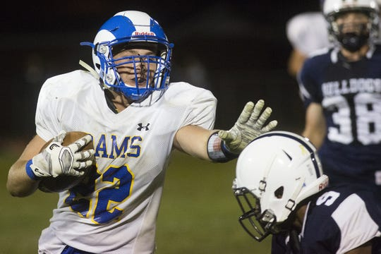 Kennard-Dale's Wyatt McCleary has rushed for 722 yards and 10 touchdowns through four games.