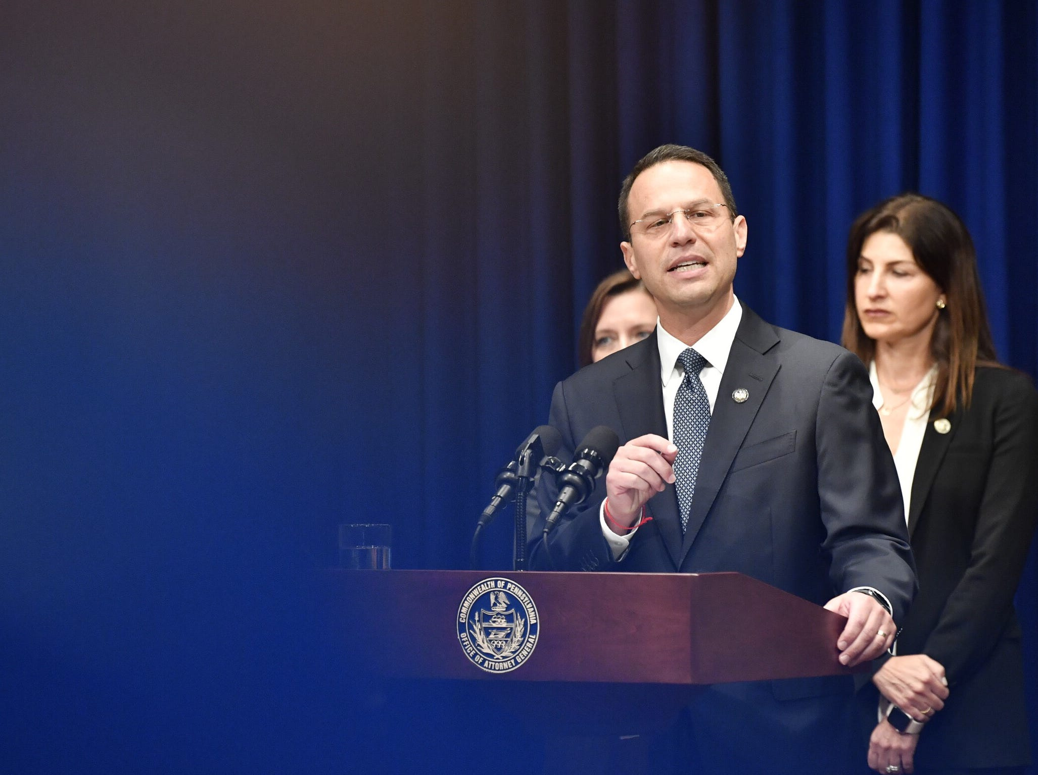 Josh Shapiro, attorney general of Pennsylvania, discusses a grand jury report on sexual abuse by clergy of the Catholic church.