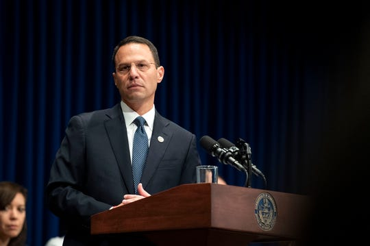 Attorney General Josh Shapiro outlined the findings of the grand jury investigation into six catholic diocese in Pennsylvania on Tuesday, August 14, 2018. The grand jury's report detailed child sexual abuse and coverup by more than 300 clergy.