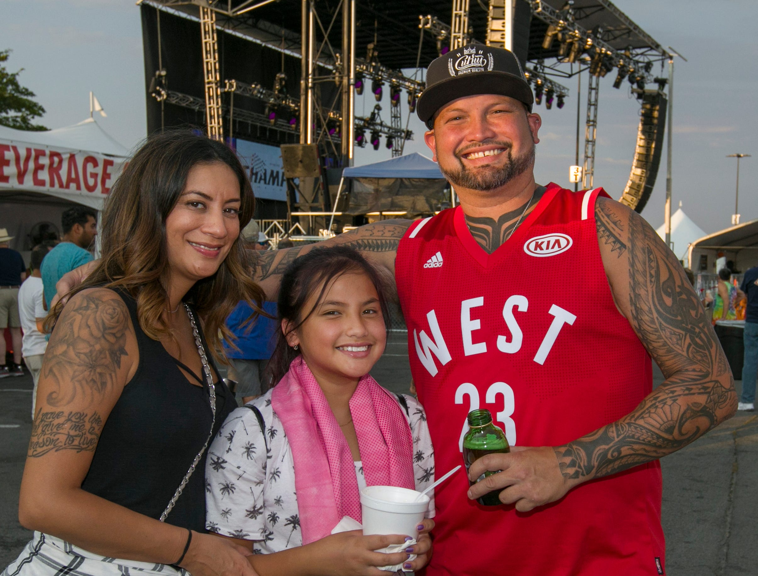 The Chaffey family during the Starship Concert during Hot August Nights at the Grand Sierra Resort on Friday, August 10, 2018.