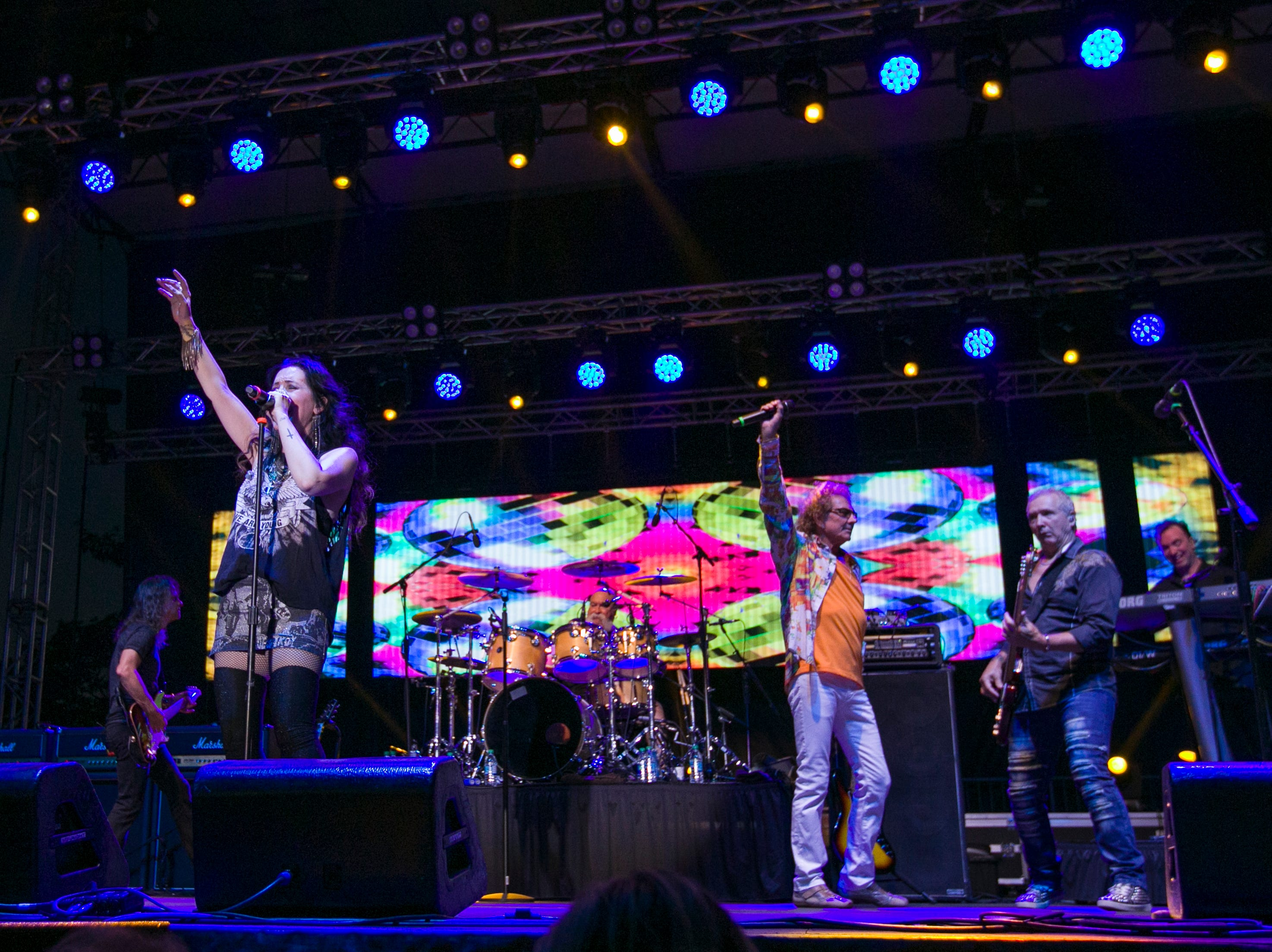 A photograph taken during the Starship Concert during Hot August Nights at the Grand Sierra Resort on Friday, August 10, 2018.