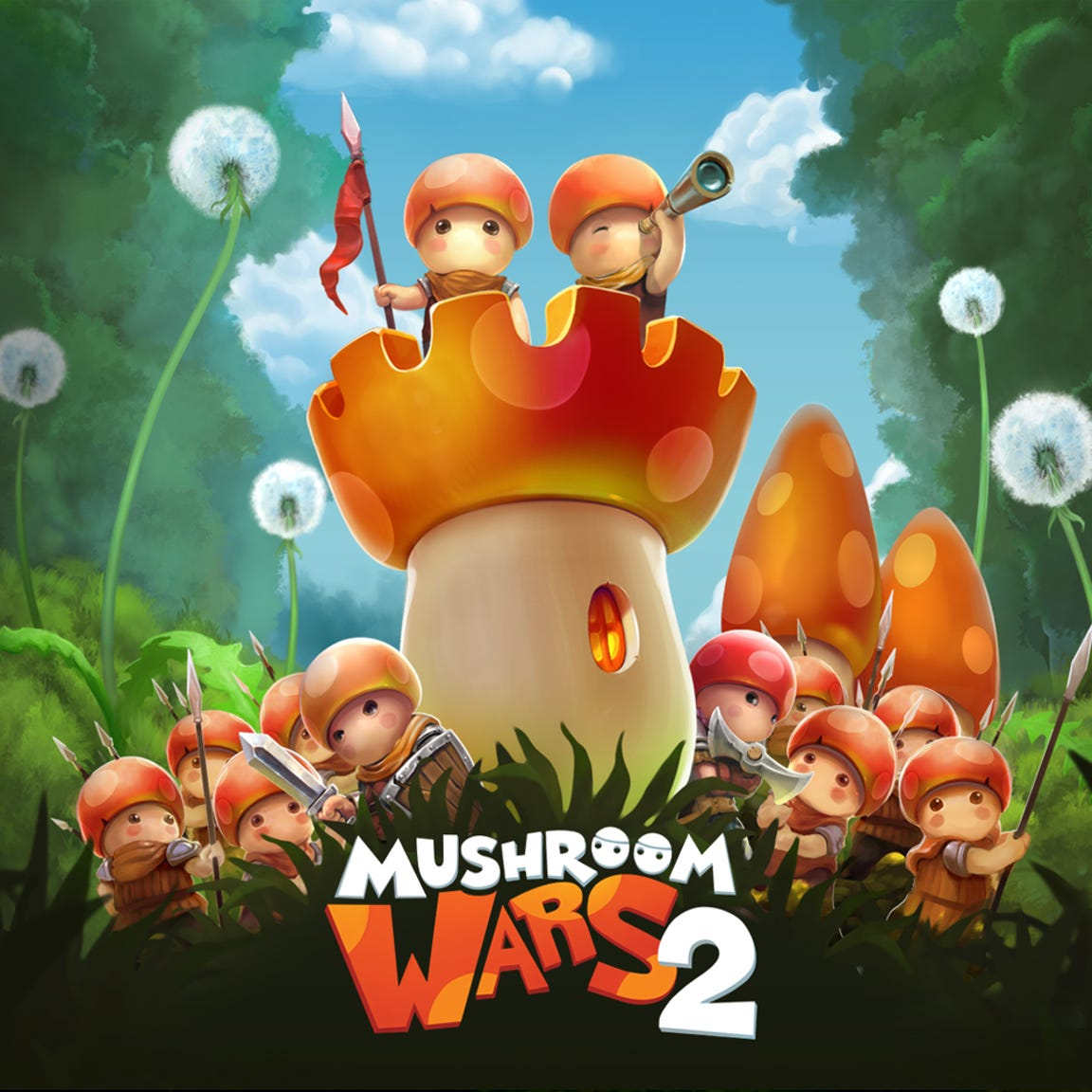 Mushroom Wars 2 is populated by, um, mushrooms.