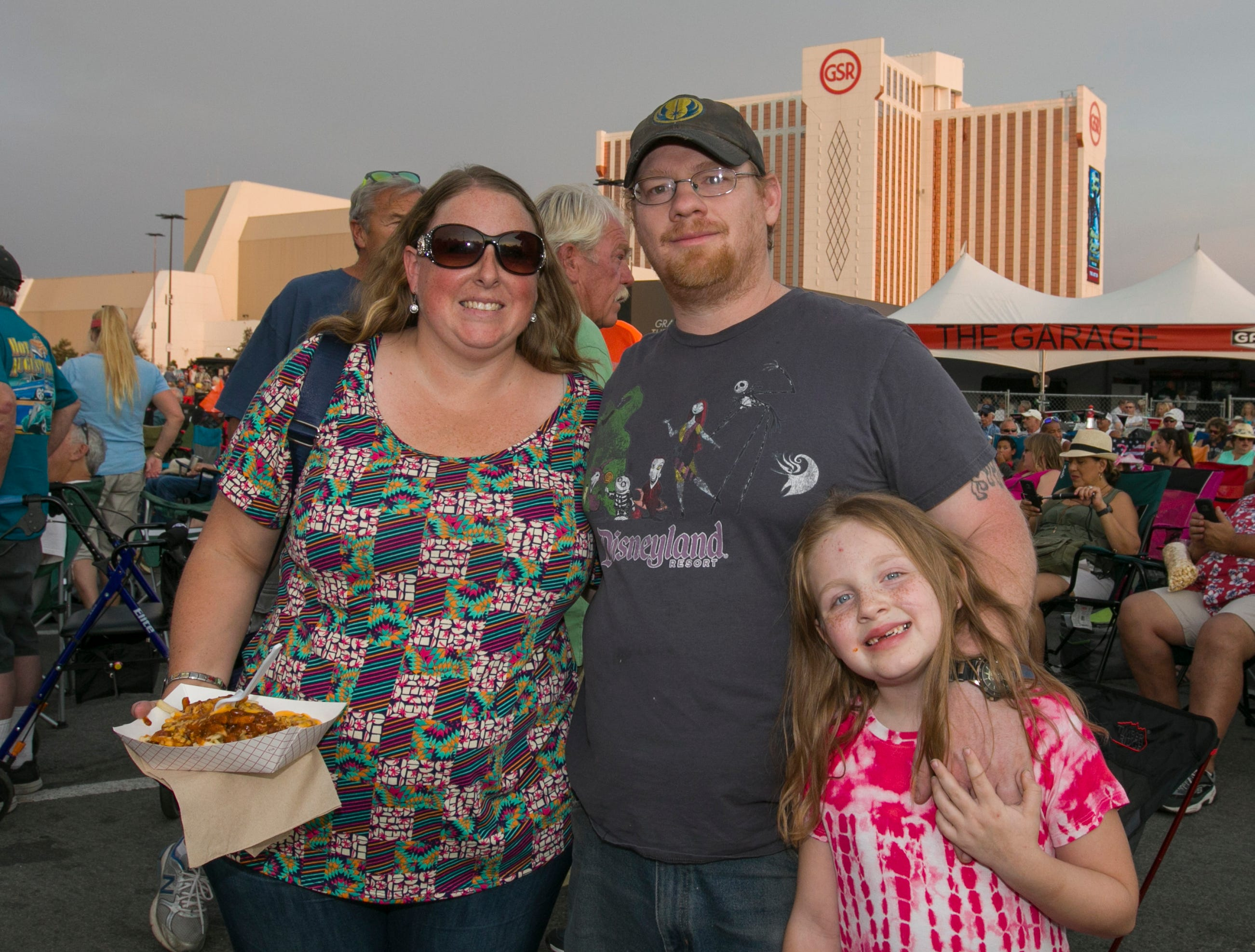 The Francisco family during the Starship Concert during Hot August Nights at the Grand Sierra Resort on Friday, August 10, 2018.