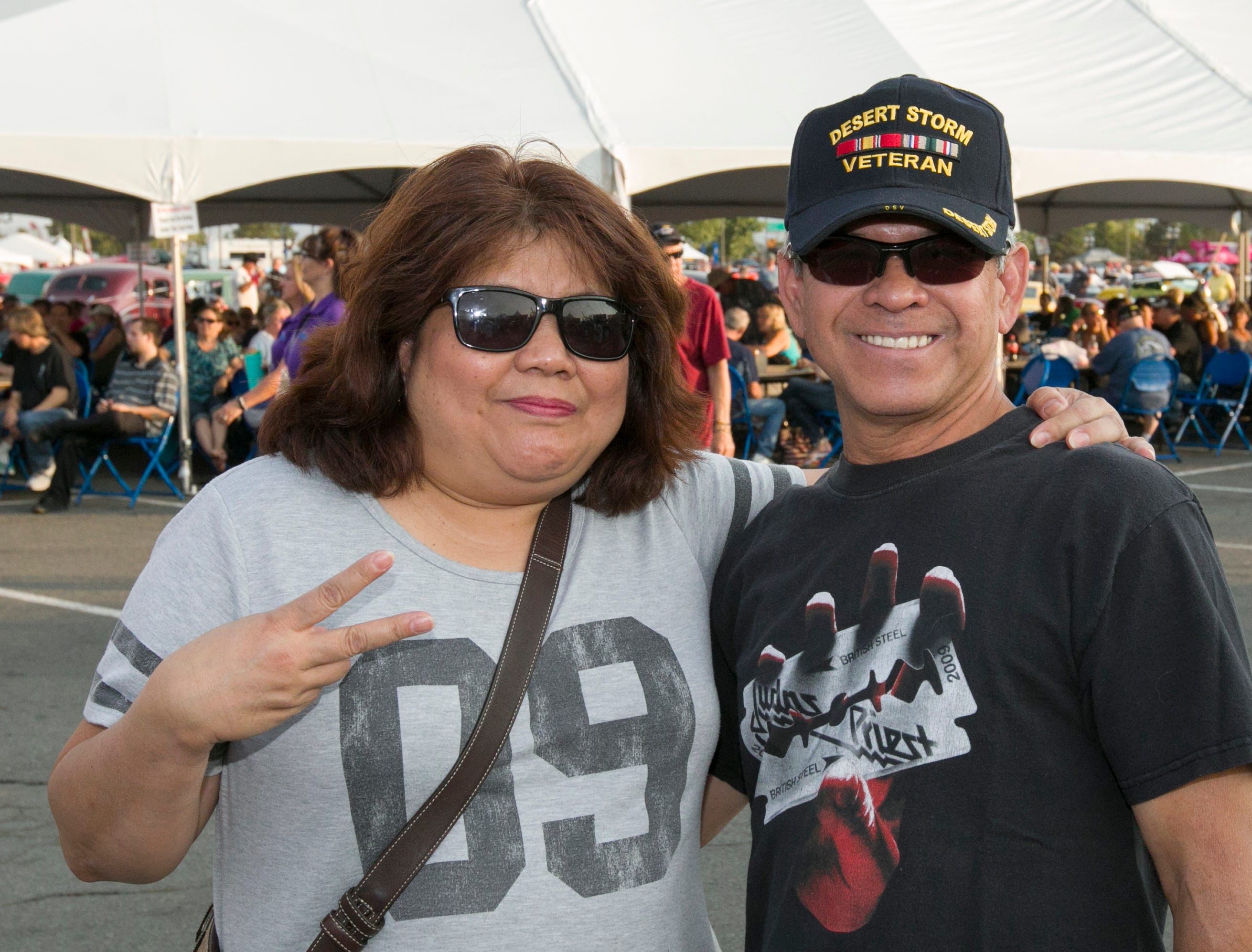 Precy and Randy during the Starship Concert during Hot August Nights at the Grand Sierra Resort on Friday, August 10, 2018.