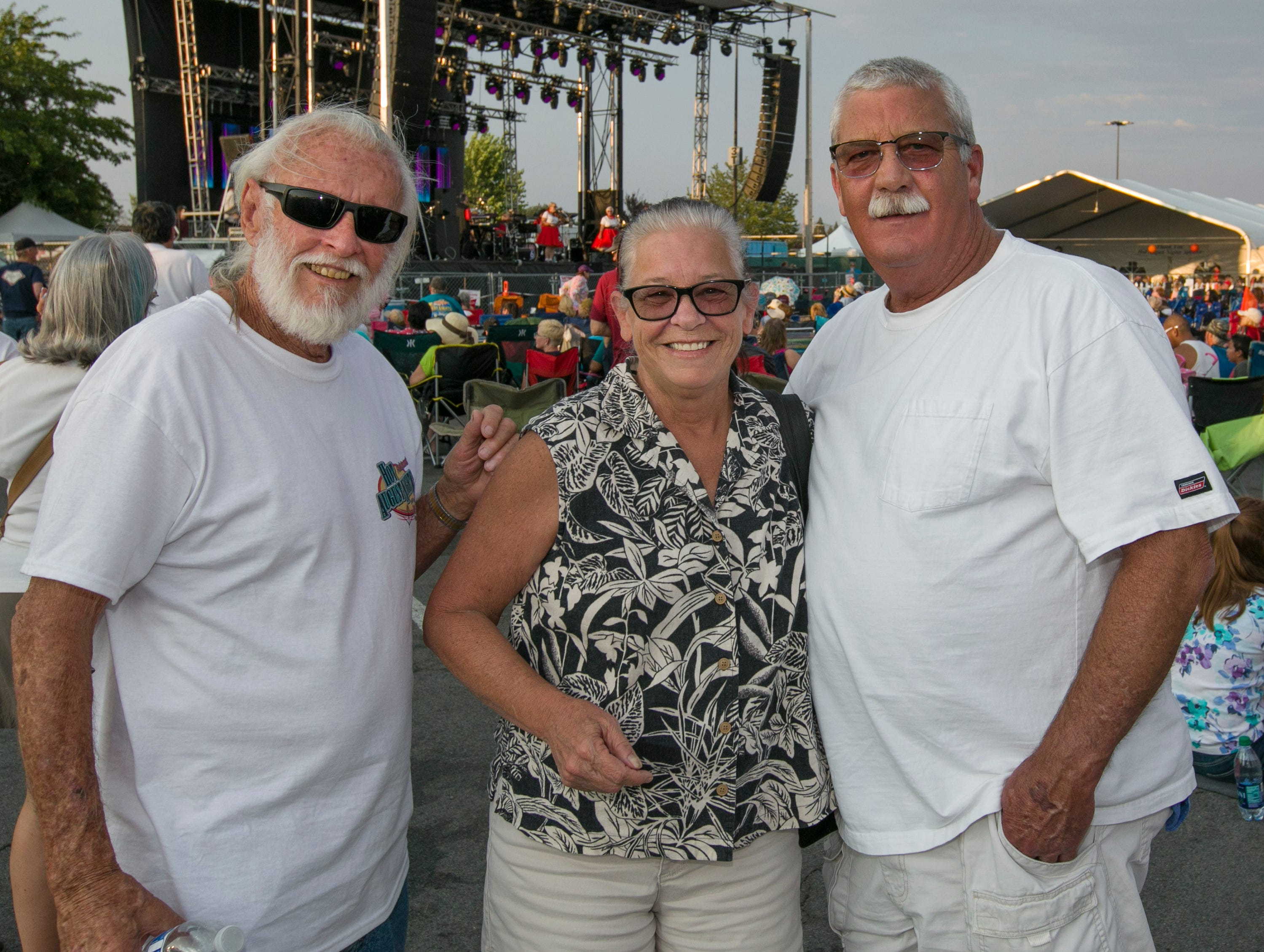 Roger, Debi and Steve during the Starship Concert during Hot August Nights at the Grand Sierra Resort on Friday, August 10, 2018.