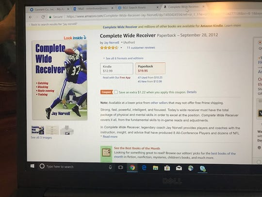 "A screenshot of Jay Norvell's book, ""Complete Wide Receiver."""