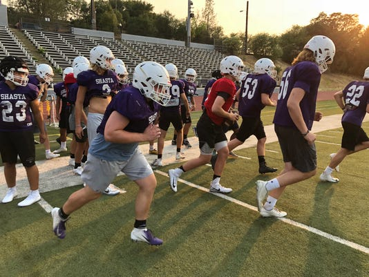 Shasta Wolves football practice