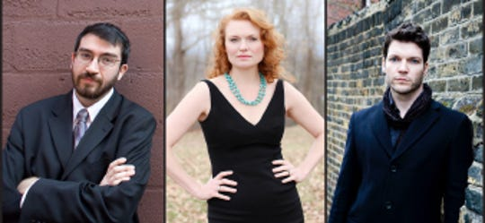 Oceana Ensemble performs on Jan. 20, 2019. The trio includes a pianist, soprano and baritone voices.