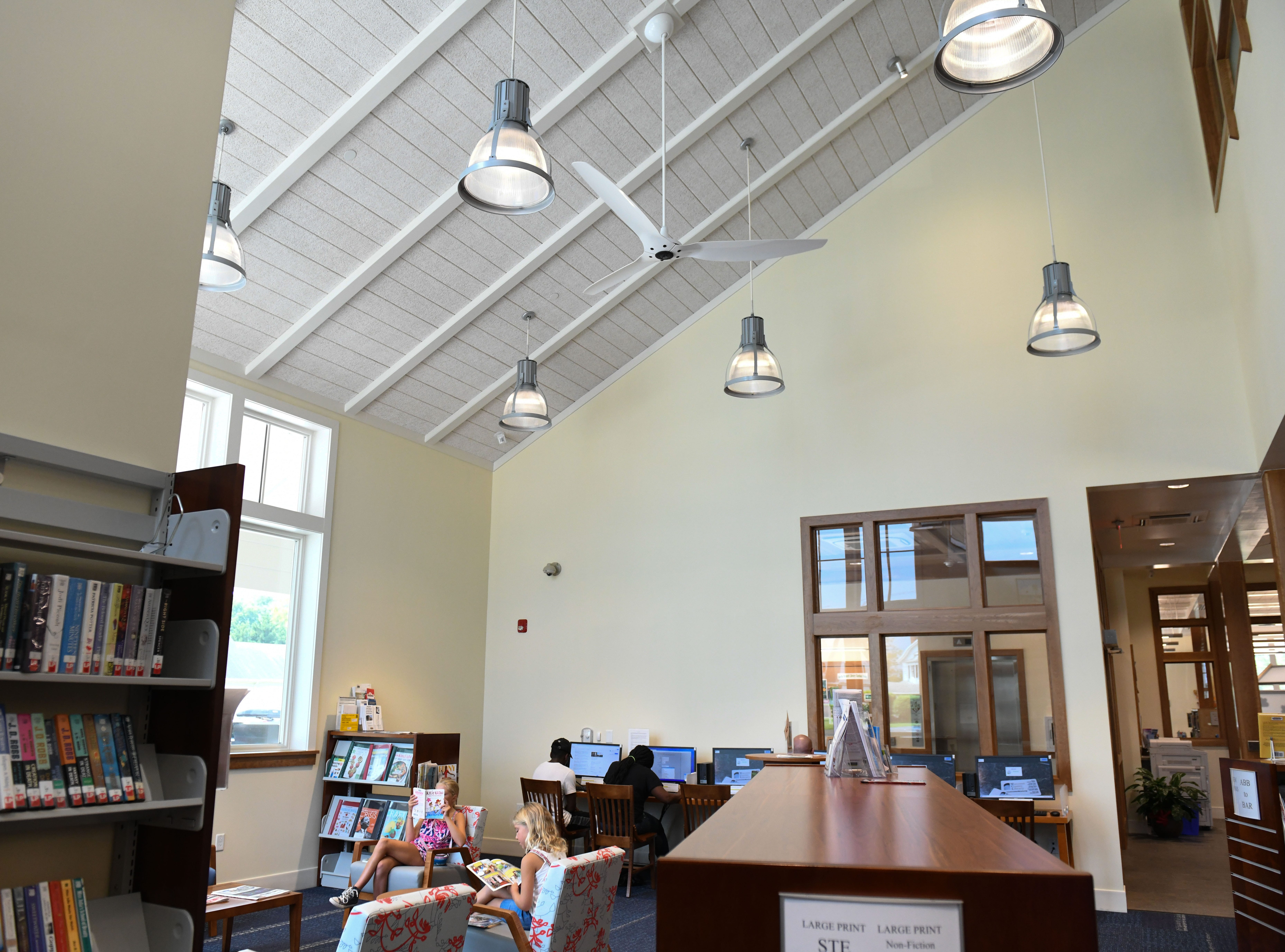 The new 12,000-square-foot Berlin Library facility opened on July 10, 2018 on Harrison Ave. in downtown Berlin.