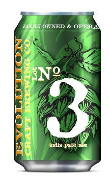 Salisbury's Evolution  Craft Brewing Company has released its  IPA, Lot No. 3, in cans.