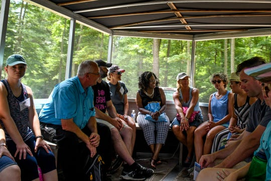 New Accomack County teachers tour the Brownsville Preserve by wagon on Monday, August 13. The field trip was part of an educational program that aims to include nature in school curriculums.