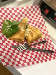 A spinach crepe available at Primo Gelato Cafe in Shreveport.