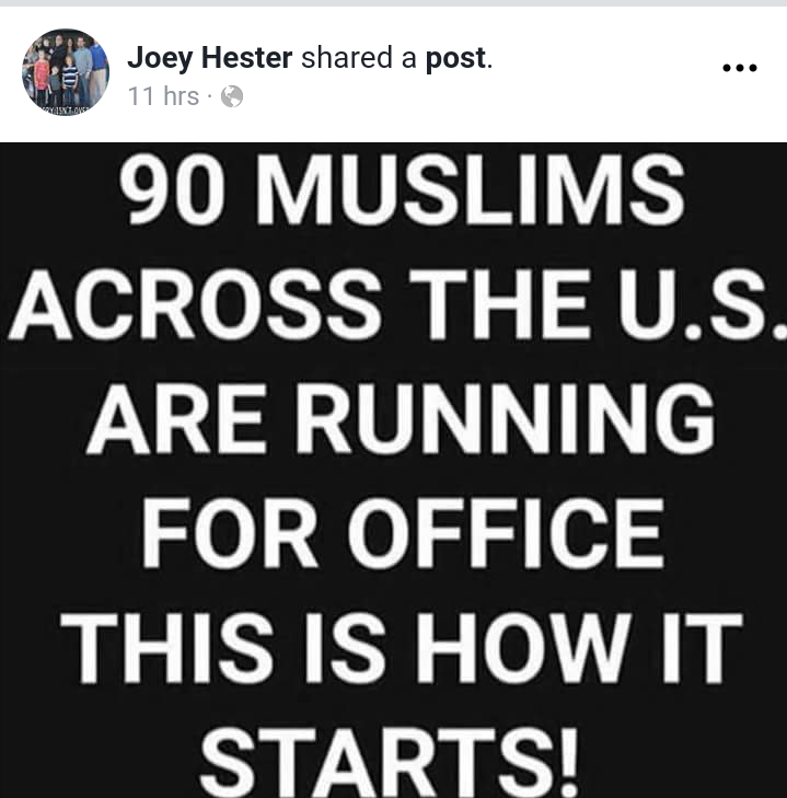 Shreveport City Council candidate shares anti-Muslim Facebook post