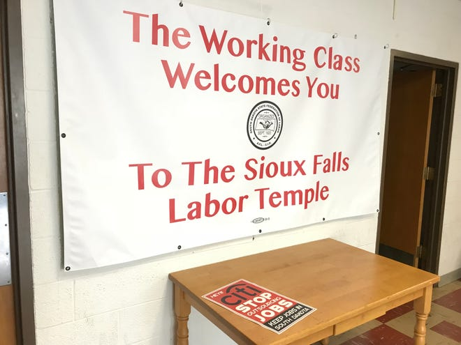 Union leaders in Sioux Falls criticized Citi's layoffs so far this year and said the bank is outsourcing jobs overseas.