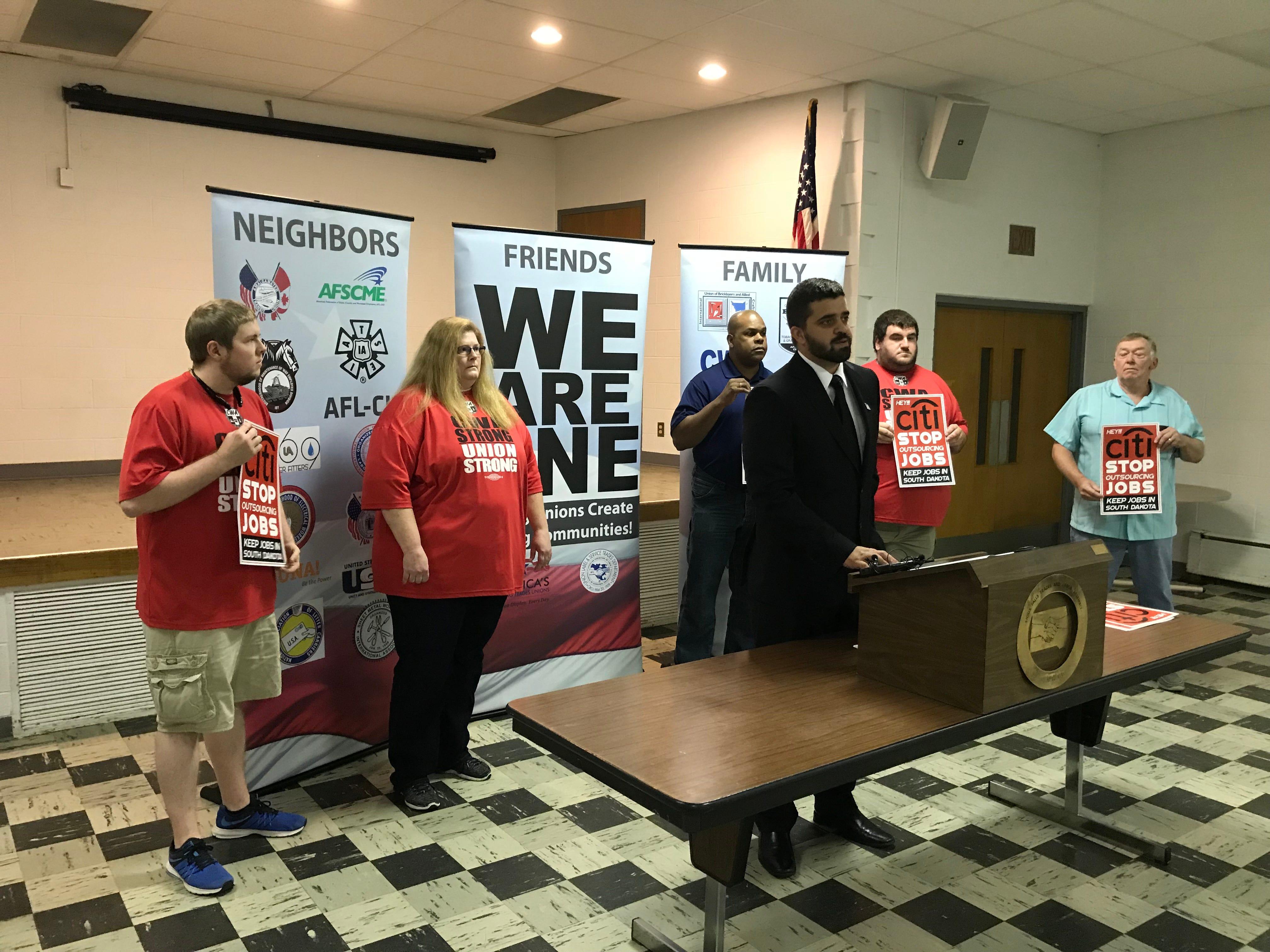 South Dakota unions protest Citi layoffs, bank outsourcing