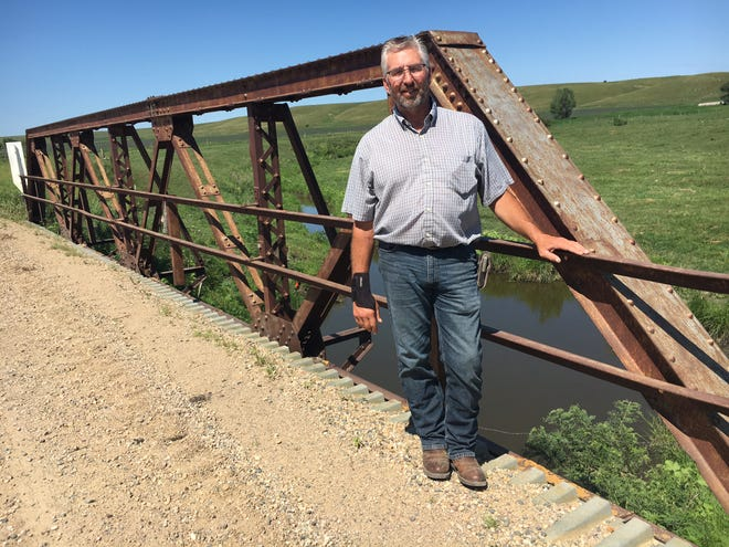 Jamie Hintz, Deuel County highway superintendent, hopes to get state Bridge Improvement Grant money to replace two structures in his county, including this pony truss bridge built in 1906.
