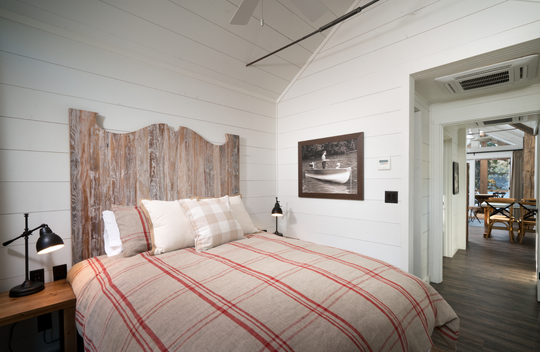 This is a sneak peak inside a cottage at Camp Long Creek, a luxury campsite at  Big Cedar Lodge set to open next spring.