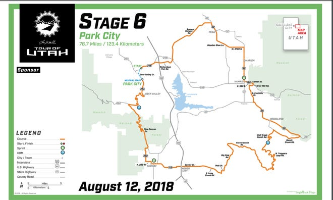 Stage 6 in Park City was the final portion of the 2018 Tour of Utah.