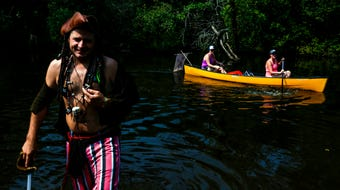 PaddleQuest, an fantasy-inspired adventure paddle race, took over the Wisconsin River in Stevens Point for its seventeenth year on August 11, 2018.