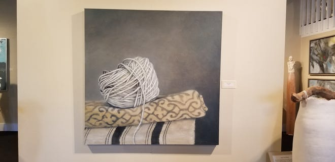 Kelly Rysavy's endearing oil paintings on display now at Signature Art Gallery.