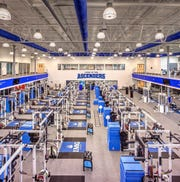 One of the two massive weight rooms located on IMG Academy's campus.