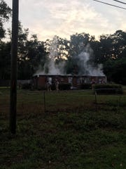 A vacant home on Old Bainbridge Road was completely destroyed in a fire Tuesday morning.