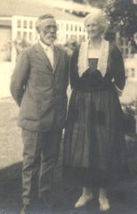 Stephen Kelita Michael and wife Laura Elizabeth Miller Michael taken in early 1930's in Holly Hill Florida where they lived in their later years. They are the parents of A.B. Michael and eight other children. These were the first settlers in Orchid.