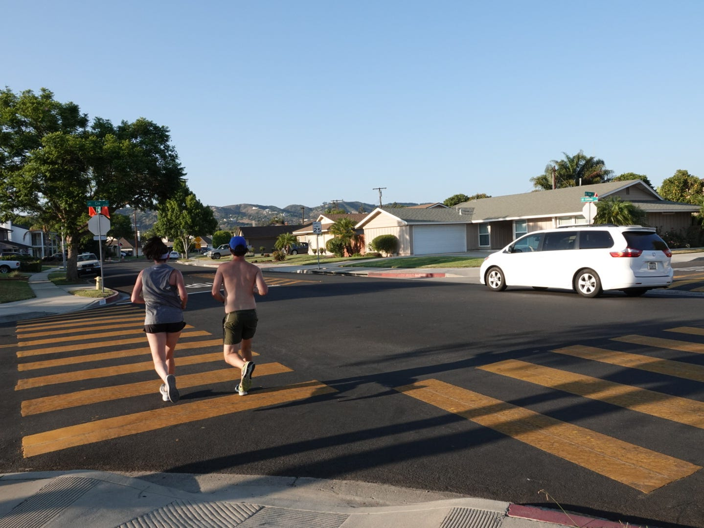 Four-way stop signs at Lantana and Coe streets in Camarillo were recently installed after years of requests from residents who have had vehicles run into their property.