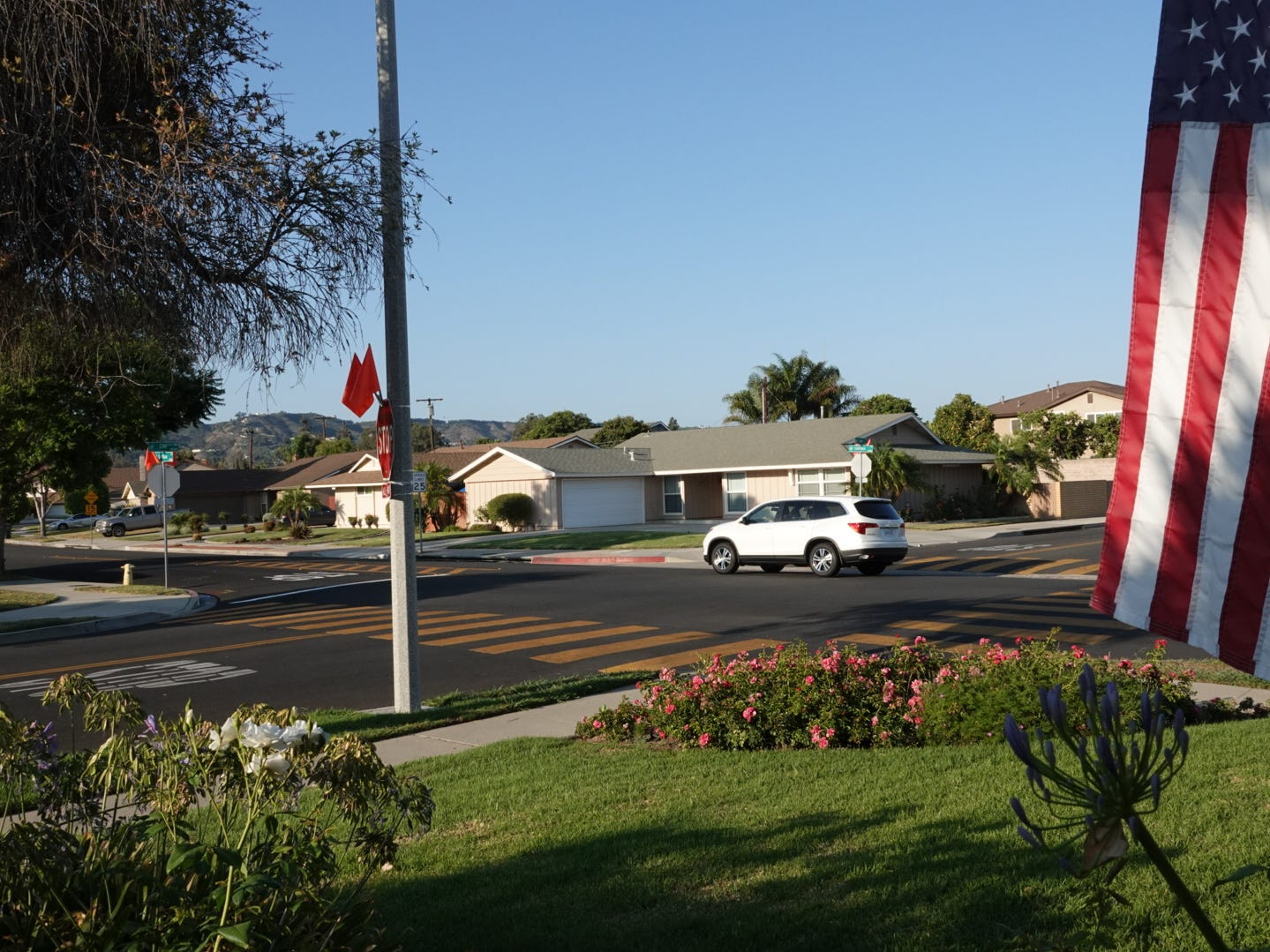 Cars have ended up in Dennis Fandey's yard three times this year alone, the Camarillo resident said. The city recently added four-way stop signs at the intersection of Lantana and Coe streets after years of requests from residents.