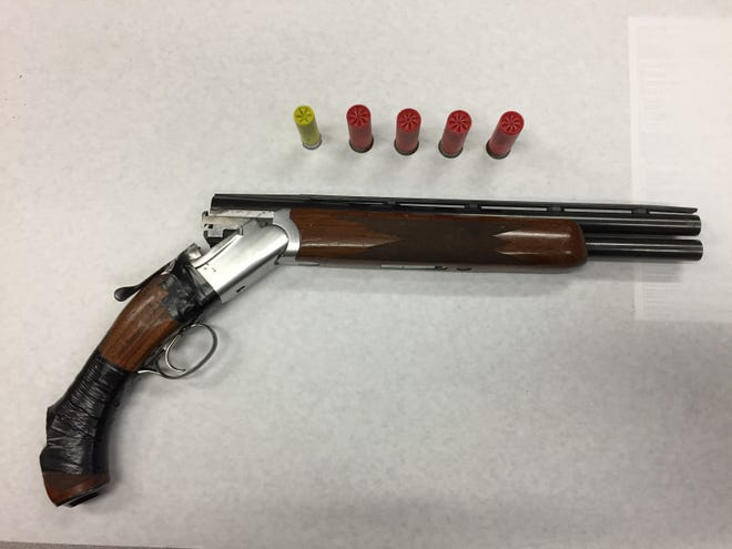An illegally modified sawed-off shotgun seized by Oxnard police.